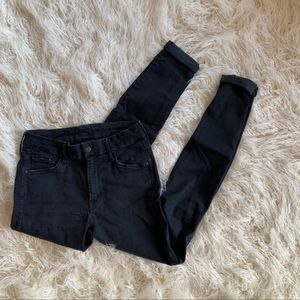 MOTHER Black Denim Women's Skinny Pants Size 27